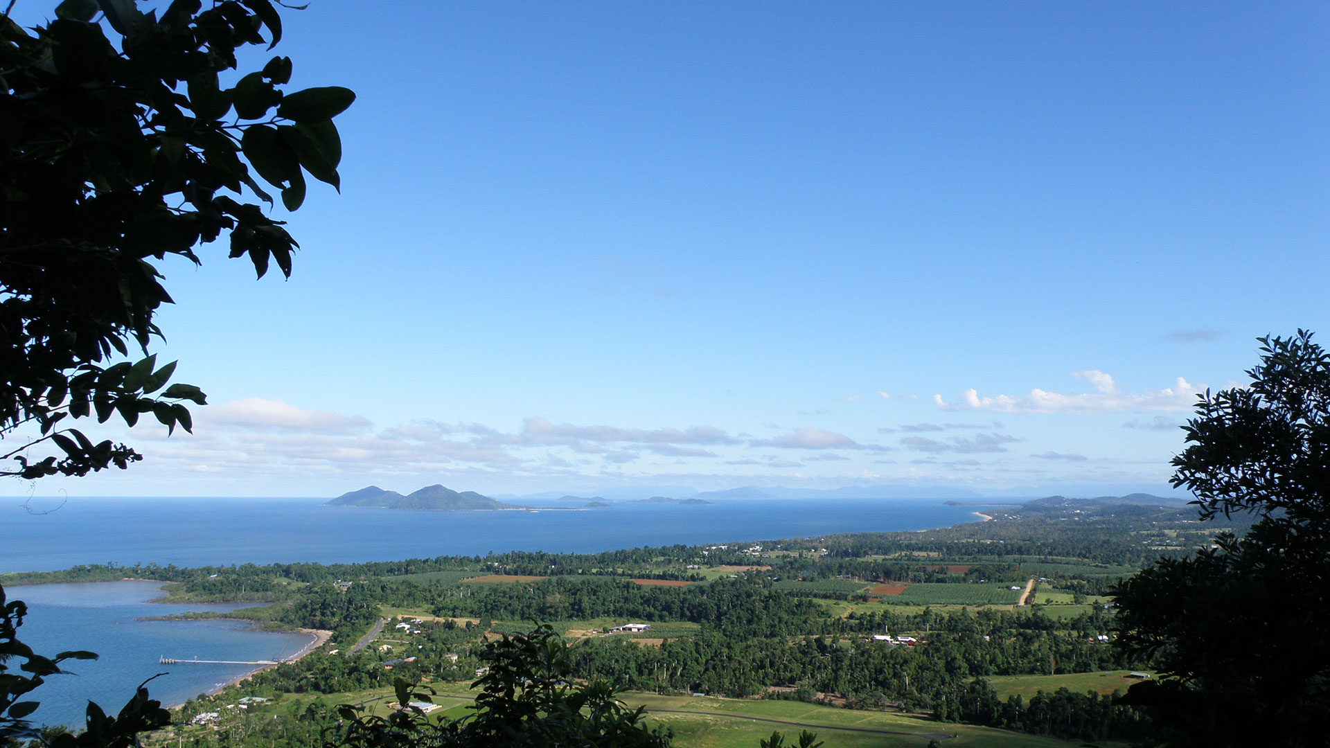 Overlooking Mission Beach, Dunk and the Family Group of islands from Bicton Hill