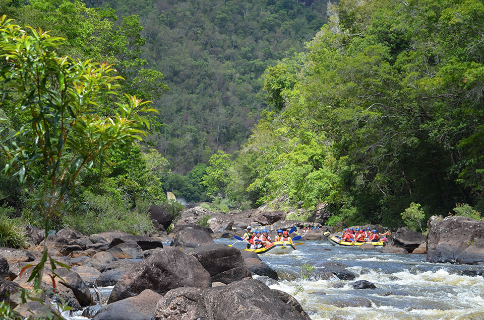 White Water Rafting, Tully River, North Queensland