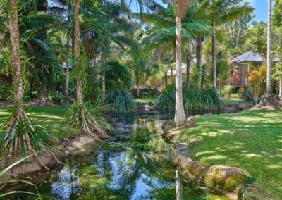 Mission Beach Accommodation Lost Paradise - our gardens flow around the property